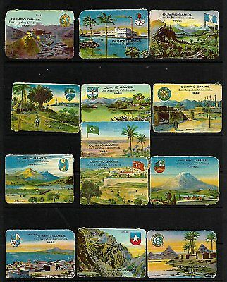 Cinderella Olympic Games 1932 Los Angeles USA Group of 13 labels