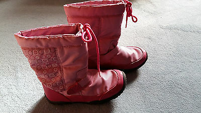 Girls boots, Pink, lined, Size 30 (Size 12)