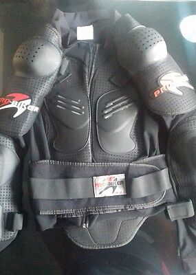 Motocross Motorbike Body Armour Motorcycle Protector Guard Jacket Black*