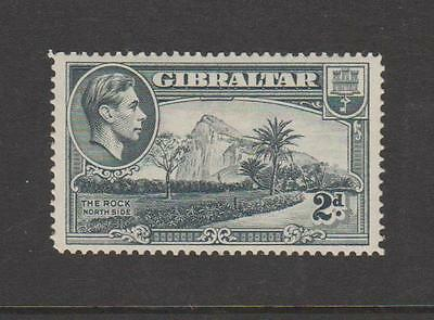 Gibraltar Kgvi Twopenny Sg 124 Fine Mounted Mint Cat £32