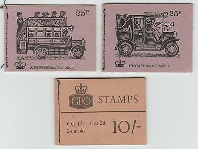 1967 10/- and 1971/2 25p BOOKLETS