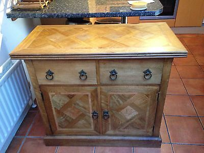 Solid wood sideboard cabinet