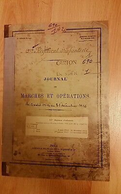 Ww1 Copy Of Somme War Diary French 137Th Infantry  9Th 19Th June 1916