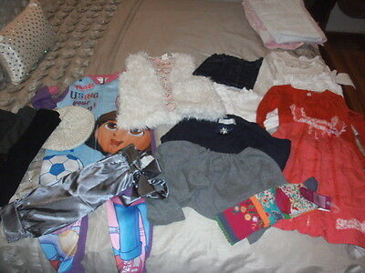Bulk 16 Items Of Girls Clothes Size 3 To 5