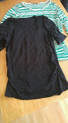 Two Evie maternity Tops size 16