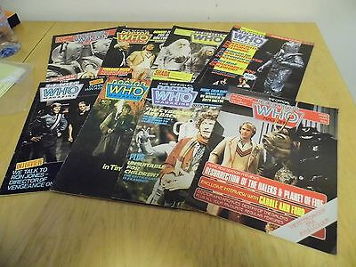 Job lot of Dr Who Magazines x 8