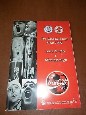 1997 Coca-Cola Cup Final Football Programme - Leicester City v Middlesbrough