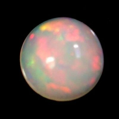 0.65Cts. 100% NATURAL MULTI COLOR FIRE ETHIOPIAN OPAL ROUND CABOCHON GEMSTONES