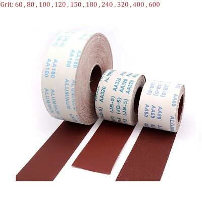 100mm Aluminum Oxide Emery Cloth Roll Sandpaper 60 80 120 240 320 400 1000 Grit