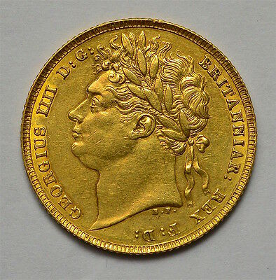 George Iv 1823 Sovereign  Very Rare  #984