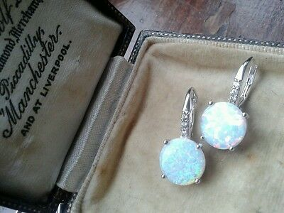 sterling silver iridescent earrings