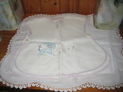 Darling Vintage Hand Made Linen Baby Outfit ~ Tagged Omren Madeira Portugal