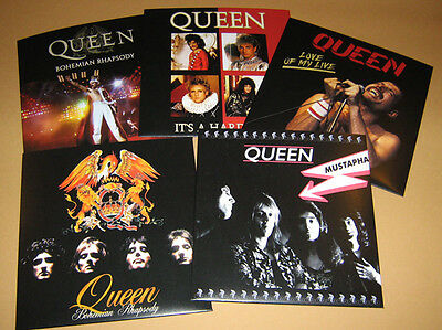 Lote de 5 QUEEN Rare 45 rpm PICTURE FAN SLEEVES