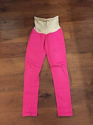 A Pea In The pod Maternity Hot Pink Skinny Jeans Size Large Spring Summer