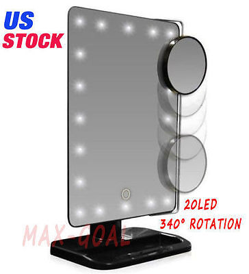 Best Lighted Makeup Mirror Magnifying With Light 10x Vanity Desktop Standing LED