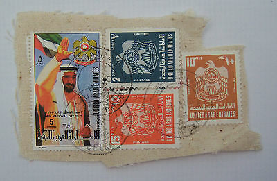 Stamps on Piece inc. Fourth National Day 1975 - SG47.