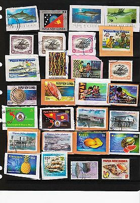 Papua New Guinea scarce used kiloware 170 all-different mainly modern assortment