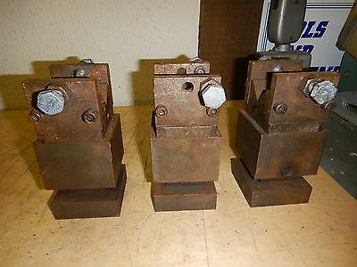 3 Machinist Tall V Blocks With Side Hold Downs Jig Fixture Milling Grinding