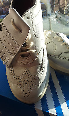 Adidas Torsion Golf Shoes Leather Interchangeable Spikes Size 5 (38)