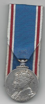 1937 silver Coronation Medal - Court mounted. Un-named as issued
