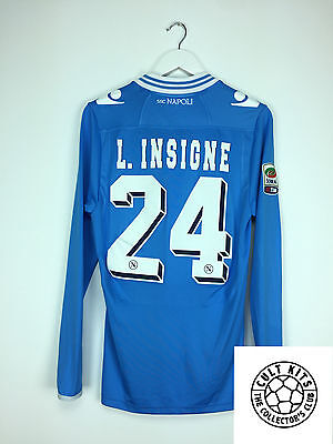 Napoli INSIGNE #24 12/13 L/S Home Football Shirt (L) Soccer Jersey