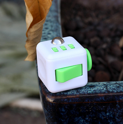 Fidget Cube Puzzle Cube Anti-anxiety Adult Stress Relief Children Toys whitegree