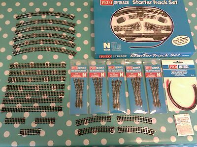 peco n gauge setrack track. large job lot/ bundle