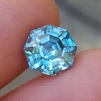 This Is Spectacular 4.40Ct Custom Cut Natural Cambodian Electric Blue Zircon