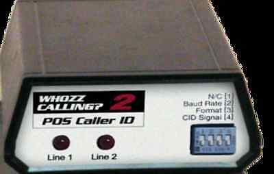 WHOZZ CALLING? 2 POS (BASIC) CALLER ID- Brand New with Warranty