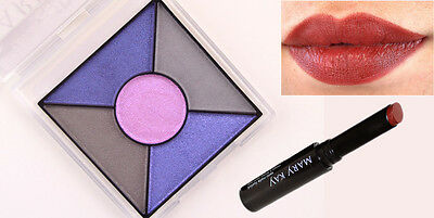 Maquillaje Mary Kay Sombra Sapphire Noir + Labial Semi mate RubyNight