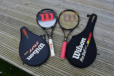 New, Wilson ProStaff 150st, and Used Wilson Pro staff  6.1 tennis rackets