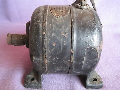 Vintage Motor Holtzer Cabot Ac Electric Motor Early Boston Mass