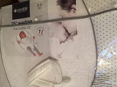 New In Package CONDIDE COT WEDGE 25 DEGREE INCLINE BABY WEDGE 0-6 MONTHS