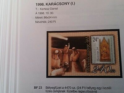 Hungary stamp booklet MNH 1998 240Ft #37