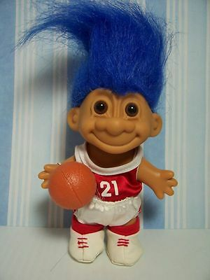 "BASKETBALL PLAYER - 5"" Russ Troll Doll - NEW IN ORIGINAL WRAPPER"