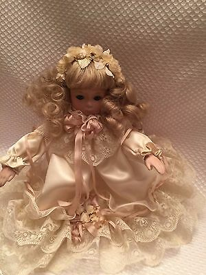 Beautiful and Sweet Vintage Table Tree Topper Angel Doll Porcelain So Precious