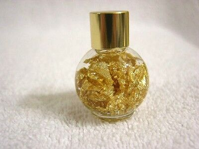 Gold all natural 0.999 pure gold flakes real gold in bottle