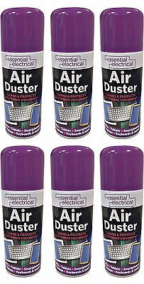 6 x 200ml Compressed Air Duster Cleaner Spray Can Canned Laptop Keyboard Mouse**