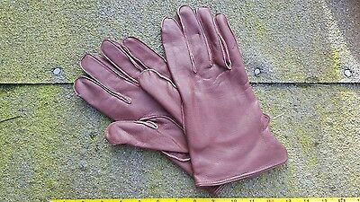 Brown leather gloves suitable British officer reenactment