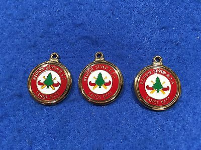 Lot of 3 1970's Vintage Boy Scouts Region 7 Canoe Base Charms