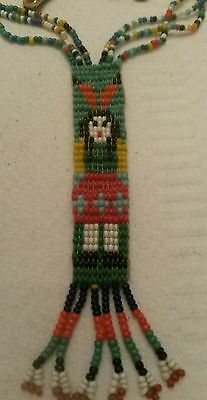 Vintage Native American Indian Seed Bead Necklace