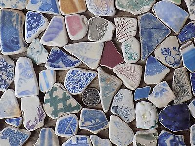 English  Sea Glass  Victorian  64 Small/med   Jewellery  Pottery   Shards