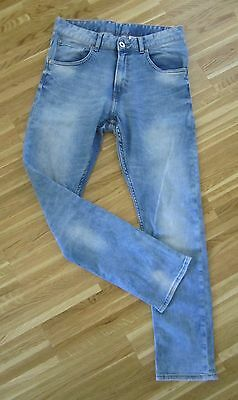 H&M &DENIM coole Jeans Boys Pant TAPERED blue washed Gr.158 TOP
