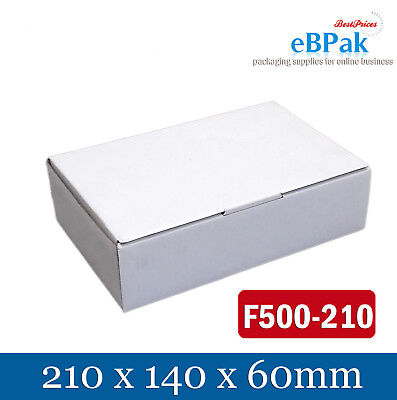 50x Mailing Box 210x140x60mm Shipping Carton for AusPOST 500g Prepaid Satchel