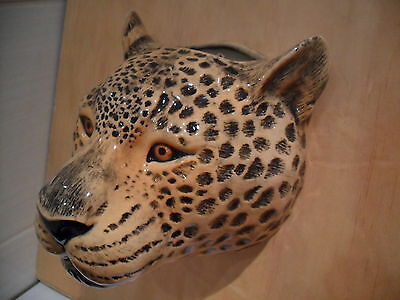 Large Ceramic Leopard Wall Vase Plant Holder By Quail ceramics Boxed Ideal Gift