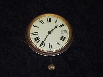 Antique Swiss Made  Travel Clock Cased No Leather Case In Working Order