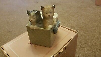 Nao Delightful Two Kittens Peeping Out Of Box! - Perfect Condition