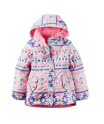 Carter's Baby Toddler Fleece-Lined Water Resistant Raincoat Wind Jacket 2T NWT
