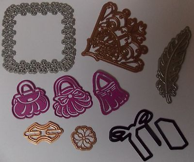 craft room clear out,job lot of metal die cutters..embellishments,card making