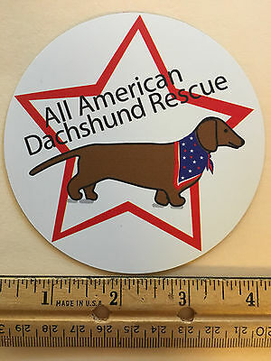 "4"" All American Dachshund Rescue (AADR) Magnet 